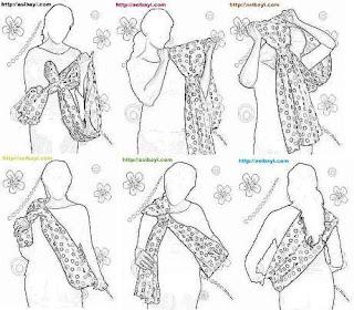 cara menggunakan tarafa baby sling