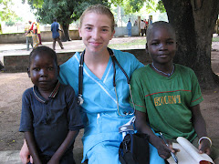 Sarah with patients (Ramadan & Evarice)