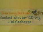CONTEST MIELA77 AKSI BABY BERCD'ING - jadik peserta 1st..yes!!