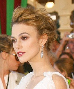 Keira Knightley Sexy Updo Hair Style