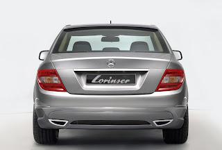 Carscoop lorinser c front kl001 Lorinser tunes the 2008 Mercedes Benz C Class