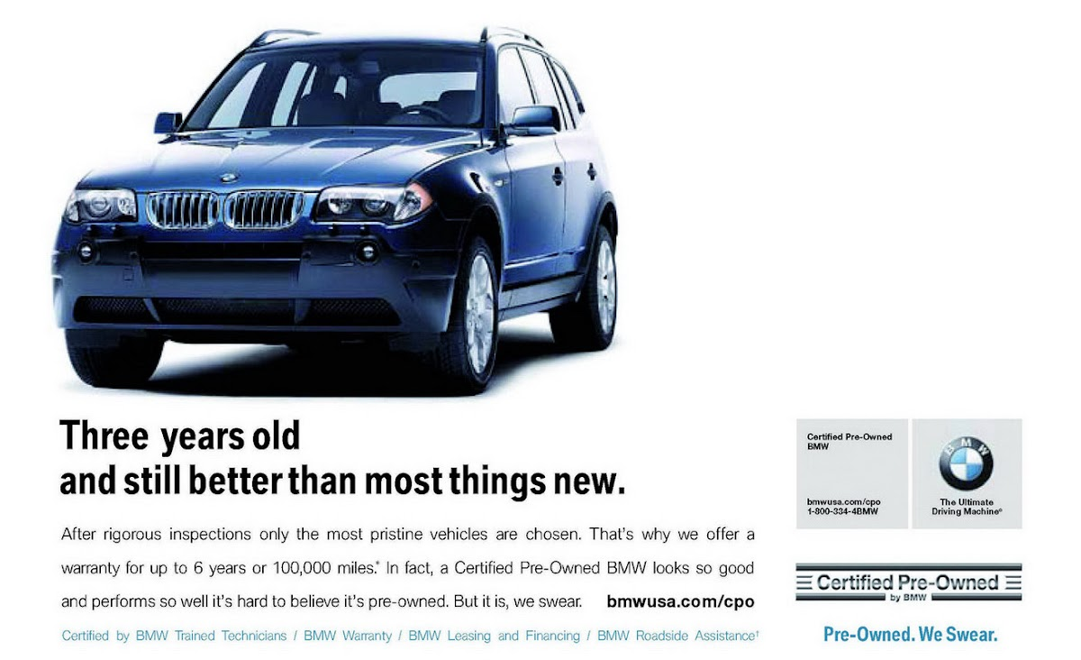 Lease Certified Pre Owned >> Bmw Launches New Ad Campaign For Certified Pre Owned Vehicles