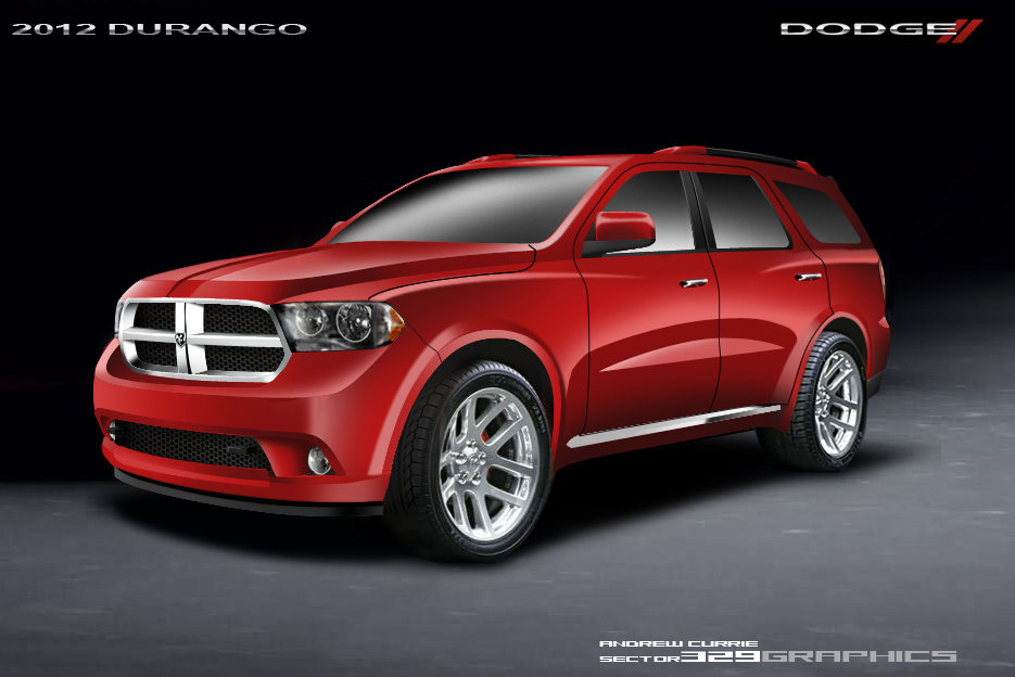 dodge fan renders  durango suv  official sketches