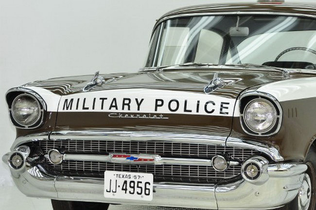 Copped Out 1957 Chevy Military Police Car For Sale