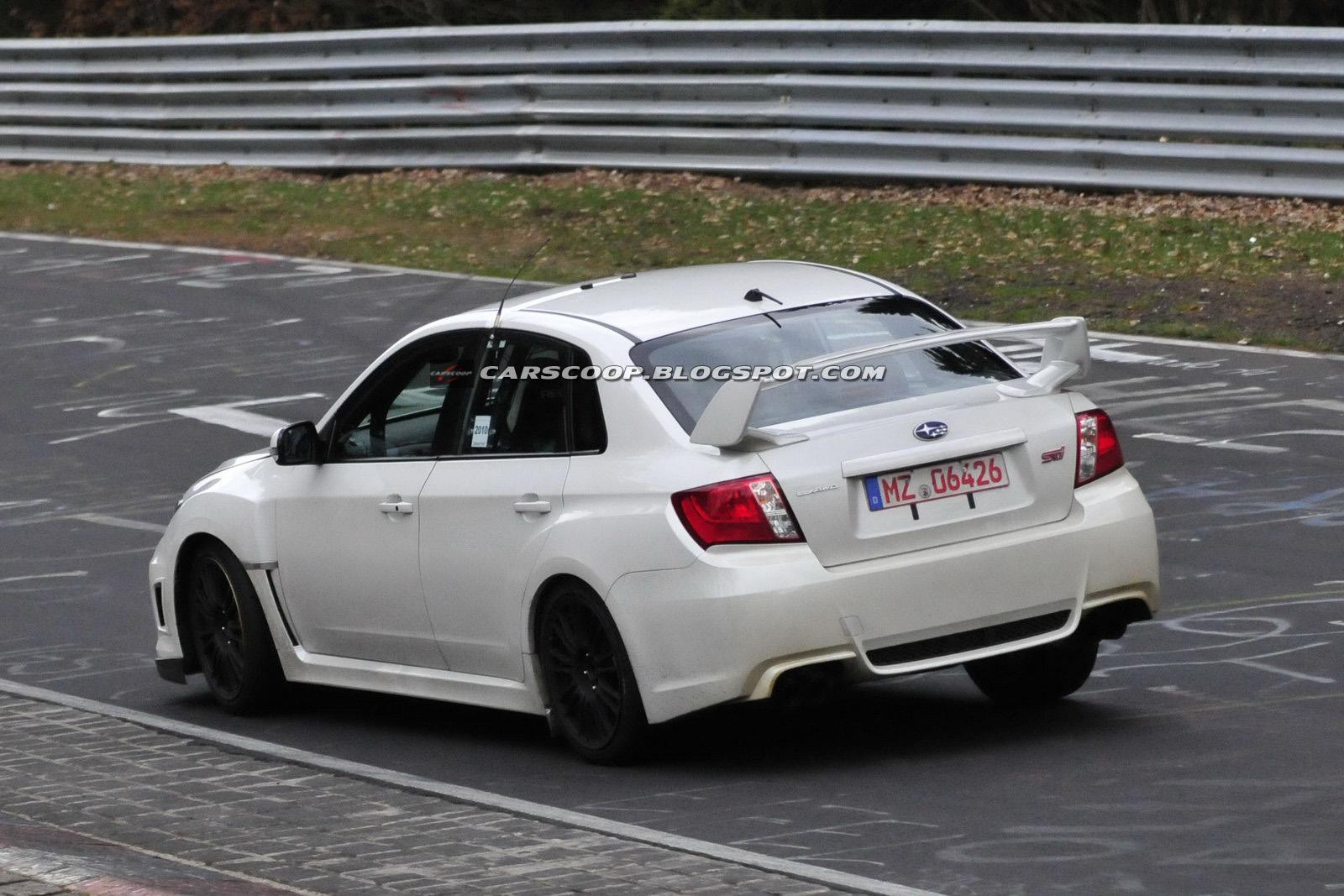 SPIED 2011 Subaru Impreza WRX STI Spec C Sedan Scooped at the Ring