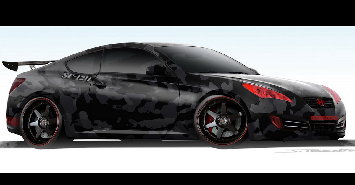 sema 2008 hyundai genesis coupe tuned by street concepts. Black Bedroom Furniture Sets. Home Design Ideas
