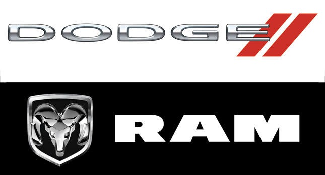 Dodge Ram Insignias 0 New Ram Brand gets Dodges Horns Logo Dodge Adopts SRT Like Twin Red Slash Photos