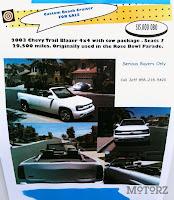 Chevrolet Trailblazer Convertible 5 Topless Chevrolet Trailblazer for Sale Photos