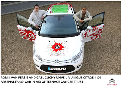 Citroen C4 Arsenal 5 Citroen creates One Off C4 dedicated to Arsenal Soccer Team Photos