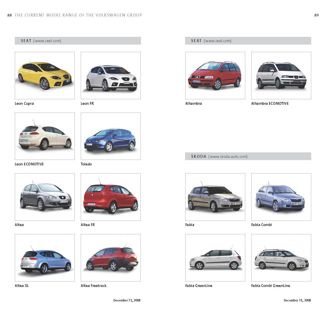 sport cars  complete list  vw groups  models sold worldwide