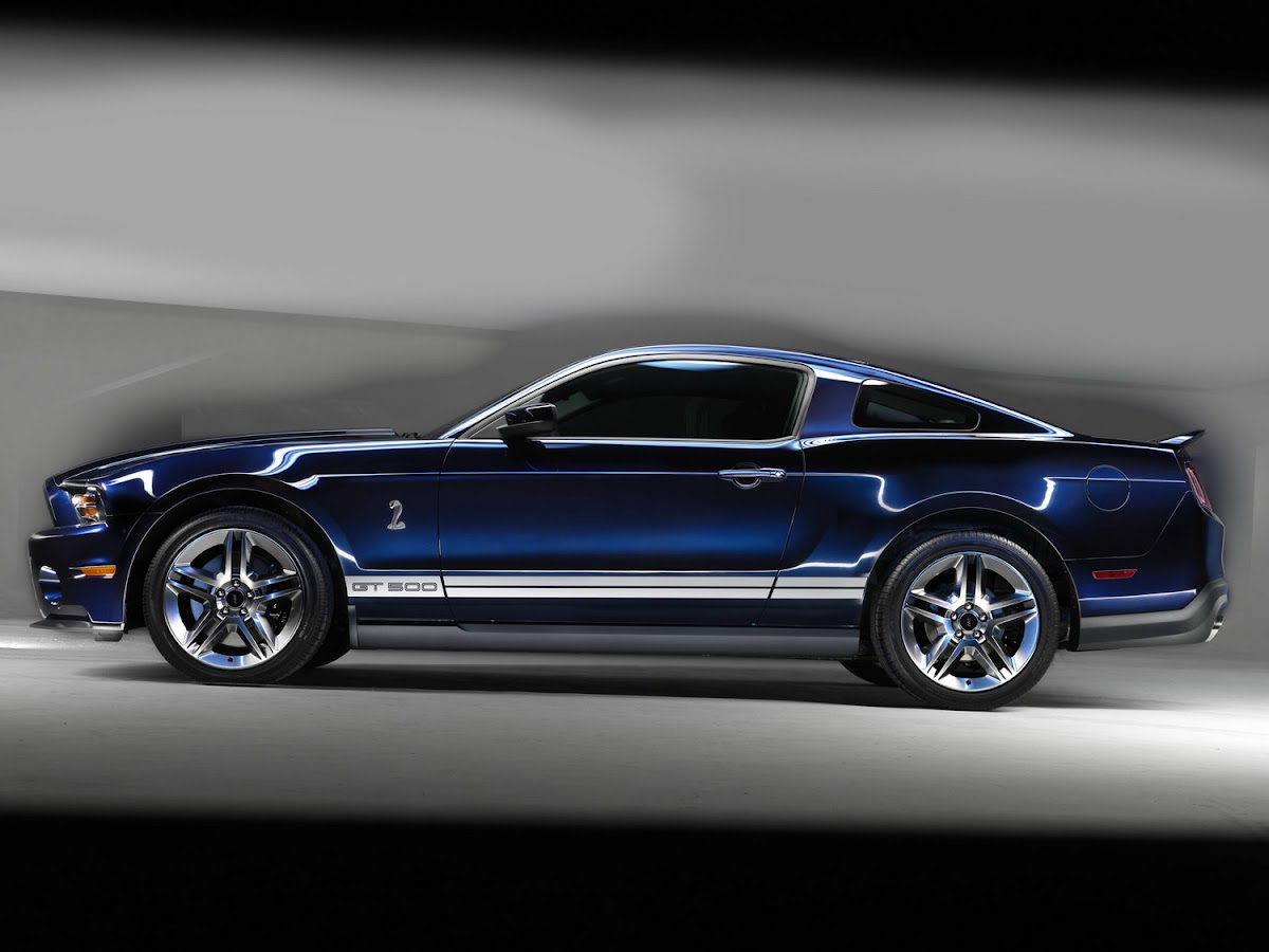 The first retail 2010 ford shelby gt500 features a color scheme and equipment personally chosen by carroll shelby the wild stang that features a kona blue