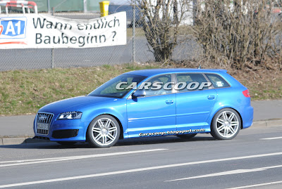Audi RS3 6 Audi RS3 Prototype with 340HP 2.5 Turbo Caught Testing in Nurburgring