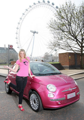 CarFIAT Pinked Out Barbie Tours Fiats European Dealers - Fiat dealers in london