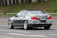 2011 BMW M5 4 SPIED 2011 BMW M5 Super Saloon Sheds More Camouflage Photos