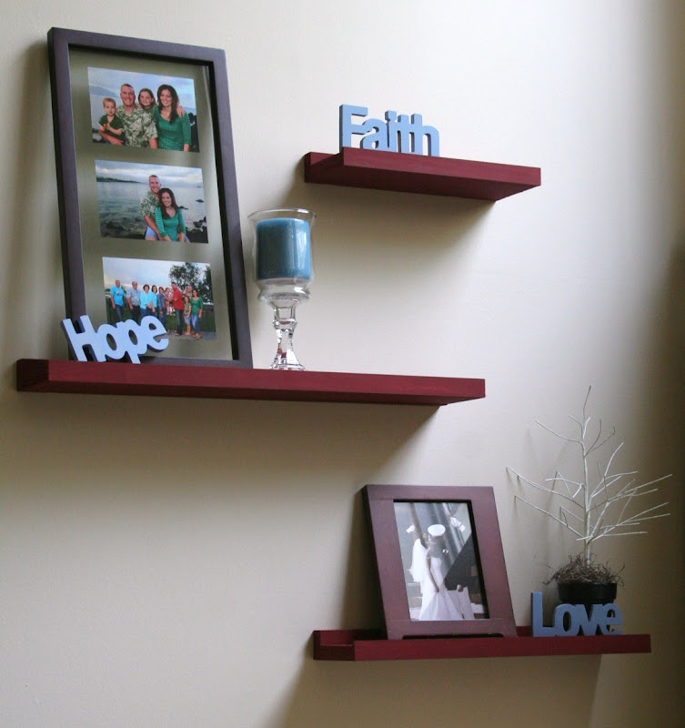 Pinterest DIY Floating Shelves