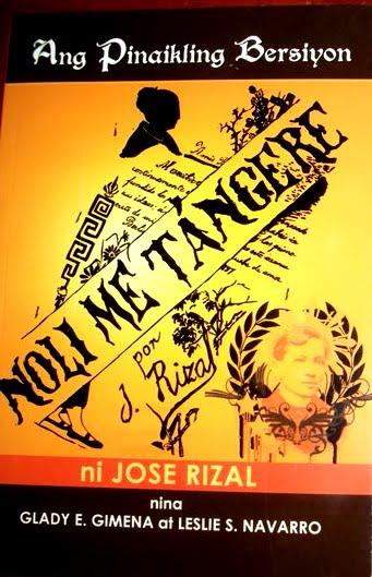 """Ang bersiyon ng aklat na """"Noli Me Tangere"""""""