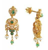min gold stone earrings jewellery gold long stone earrings designs