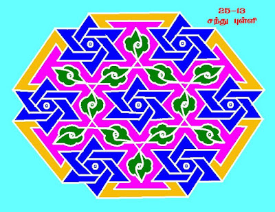 Colourful Rangoli and dot kolam designs