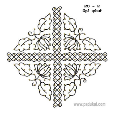 Simple Kolams, Pulli Kolam, Dot Pattern Kolams, Chuzhi Kolam, Simple