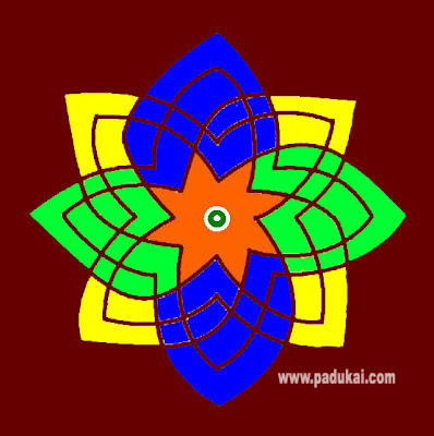 Simple Colourful Rangoli Designs