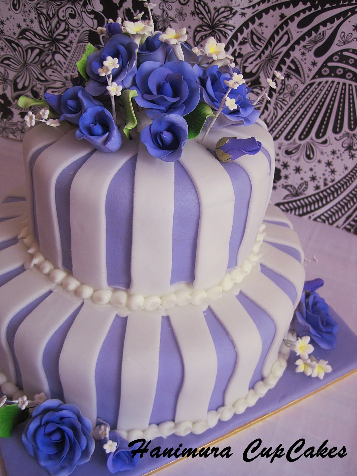 Hanimura CupCake Purple 2 tier Wedding Cake