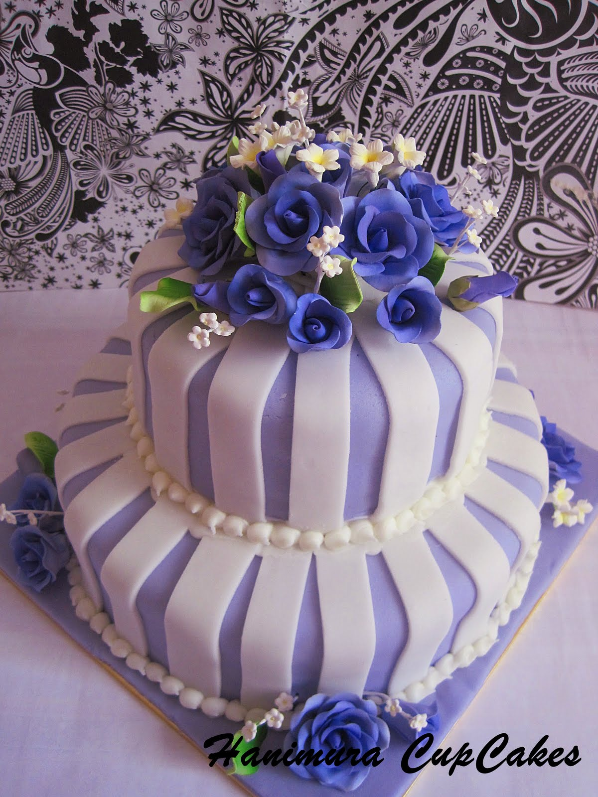 Hanimura CupCake Purple 2 tier Wedding Cake