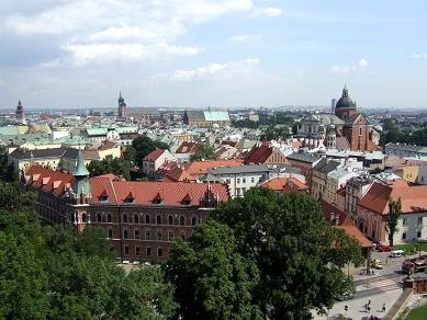 view of Krakow centre