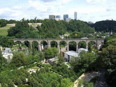 view of railroad bridge