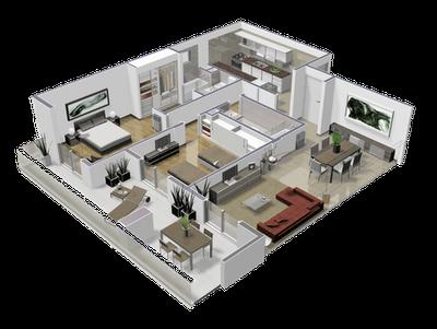 Planos de casas y departamentos distribucion de espacio for Oficina virtual de distribucion
