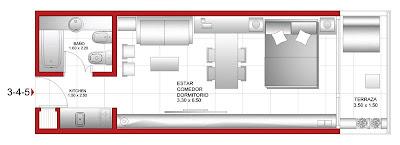 Planos de casas y departamentos agosto 2009 for Planos de departamentos de 40m2