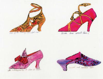 A la Recherche du Shoe Perdu warhol