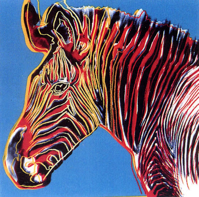 endangered species zebra warhol