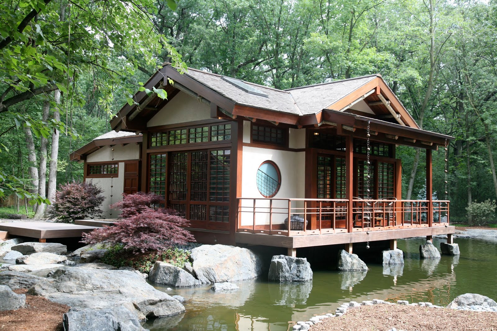Grabill windows and doors asian inspired tea house for Modern japanese tea house design