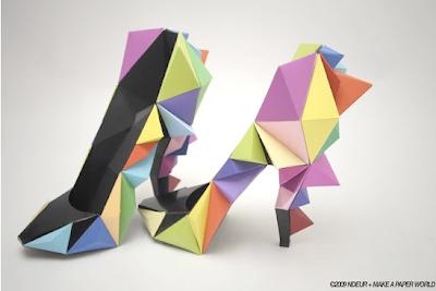 Zapatos papel