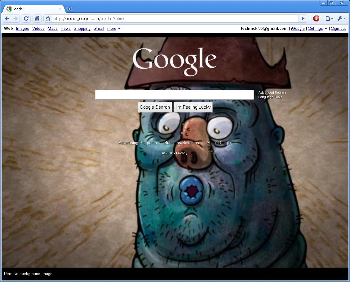 how to put background image on google homepage