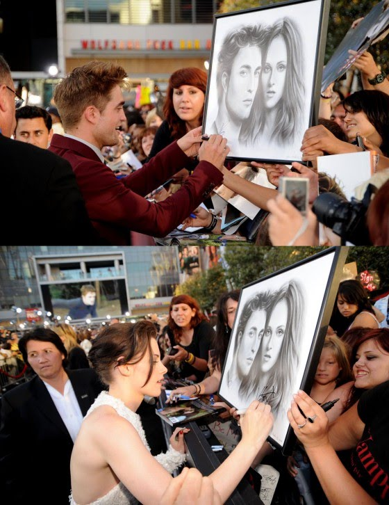robert pattinson and kristen stewart twilight premiere. Robert Pattinson amp; Kristen