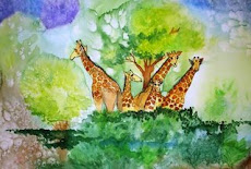 My Watercolor Giraffes