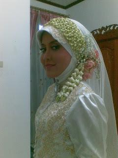 Model Kerudung dan make up untuk Pengantin Muslim Modern bisa anda