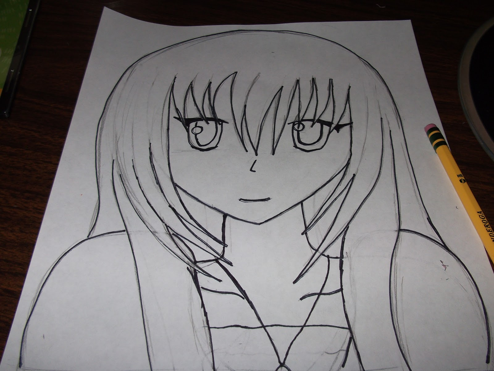 Cool Drawings Of Anime People Step 4: outline your person in