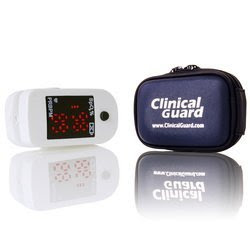 Finger Pulse Oximeter with Easy-Carry Soft Case and Neck/wrist cord