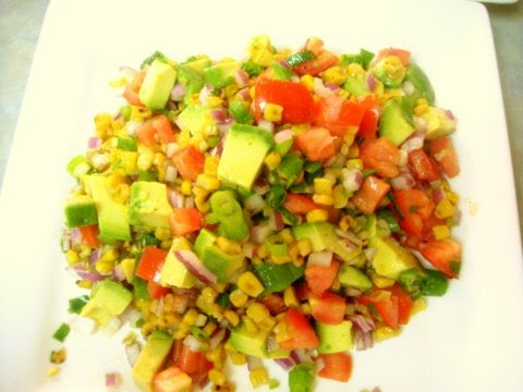 ... : Grilled Chipotle Chicken Tenders w/ Avocado & Roasted Corn Salsa