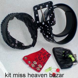 Promoção Tiara, Cinto, Porta-Moedas, Bracelete e Broche