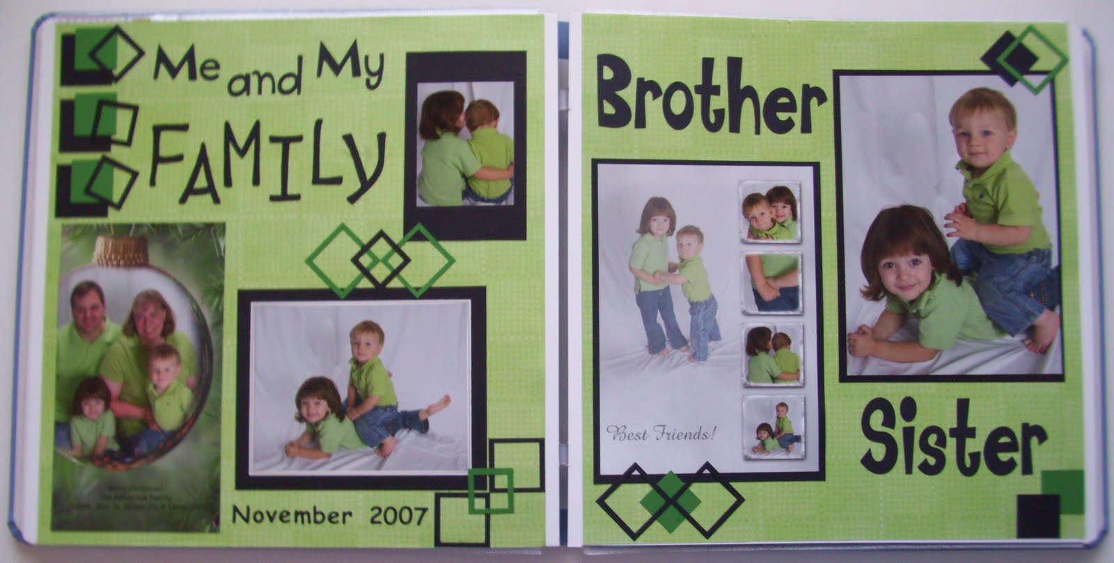 Scrapbook ideas about me - Me And My Family