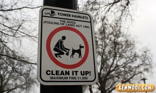 london dog poop sign