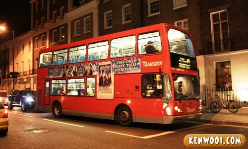london double-decker red bus