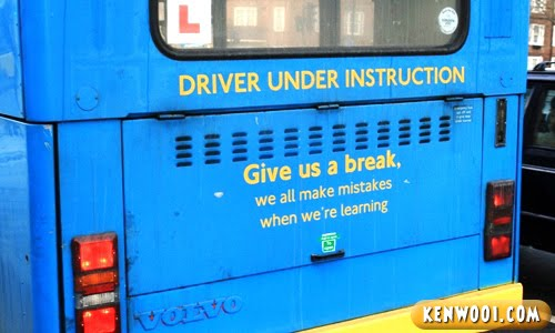london learner bus message