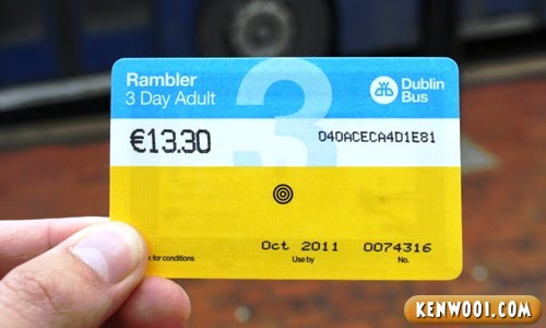 dublin bus rambler ticket