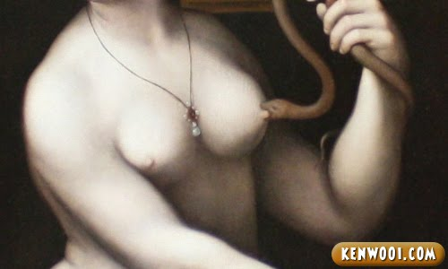 snake biting nipple
