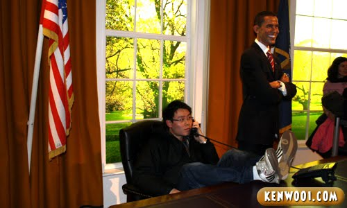 madame tussauds london barack obama office