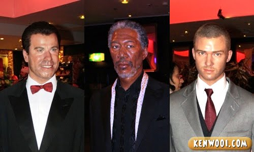 madame tussauds london john travolta morgan freeman justin timberlake